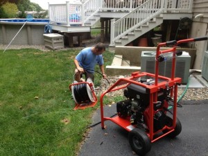 Drain Chief jetting drains in Baltimore, MD